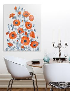 Discover «Poppies watercolor», Exclusive Edition Aluminum Print by Ruta Dumalakaite - From $59 - Curioos