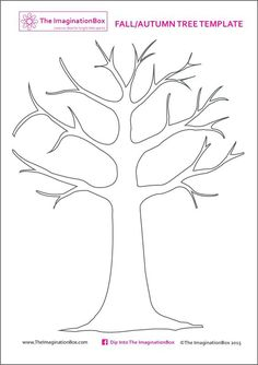 print this free tree template from the to create your own beautiful fall autumn art using fingerprinting or buttons outline printab