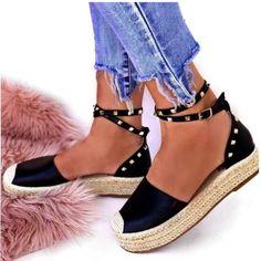Εσπαντρίγιες Valia τρουκς μαύρο Espadrilles, Sandals, Shoes, Fashion, Espadrilles Outfit, Moda, Shoes Sandals, Zapatos, Shoes Outlet