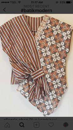 Dress Batik Kombinasi Lurik 48 Ideas For 2019 Model Dress Batik, Batik Dress, Sewing Clothes, Diy Clothes, Clothes For Women, Blouse Batik Modern, Dress Batik Kombinasi, Batik Blazer, Batik Kebaya