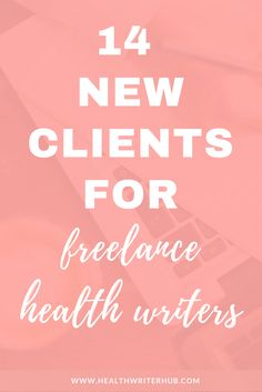 If you're new to freelancing or have just begun your journey, you may still be wondering who your clients actually are.Before I began my career, I assumed a freelance health writer's clients were only magazines and newspapers. How wrong I was!While getting articles published in magazines and newspapers is a great notch on your belt, this practice alone won't sustain your freelance health writing business.Even the pitching process of magazine writing is time-intensive, stressful and laboriou