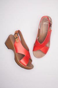 68c1d6dc49dd Jacinda Red Full Grain Orthopedic Sandals