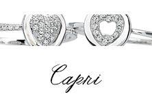 #Bibigi | Collezione #Capri | Gioielli in oro bianco e diamanti.