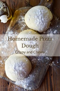 This homemade pizza dough by hand is the perfect recipe for crispy on the outside and chewy on the inside. You'll find it is an easy recipe that takes a little time only because the yeast dough needs to rise. Pizzas for a Super Bowl Party! Oven Recipes, Pizza Recipes, Cooking Recipes, Easy Recipes, Skillet Recipes, Cooking Gadgets, Healthy Recipes, Crispy Pizza, Recipes