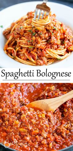 Spaghetti Bolognese is a classic Italian meat sauce that is a staple in most families. My super simple Spaghetti Bolognese is the perfect dinner for any night of the week and will wow your family or guests. Meat Recipes, Pasta Recipes, Dinner Recipes, Cooking Recipes, Healthy Recipes, Healthy Desserts, Free Recipes, Healthy Food, Recipies