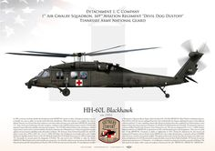 """UNITED STATES ARMY Detachment 1, C Company1st Air Cavalry Squadron, 169th Aviation Regiment """"Devil Dog Dustoff""""Tennessee Army National Guard"""