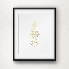 Himmeli Ornament  Gold Foil Print by CollectivityLane on Etsy, $12.00