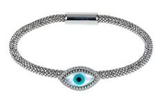 Best Bracelets For Women | Evil Eye 925 Italian Sterling Silver Nickel Free Jewish Symbol Bracelet with clear cz * You can find more details by visiting the image link. Note:It is Affiliate Link to Amazon.