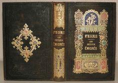 1850 1880 Bien relié LES PETITS ÉMIGRÉS par Mme DE GENLIS GRAVURES RELIURE LA19