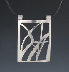 Sterling Silver Reeds Pendant-Handmade
