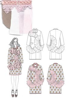 Fashion Sketchbook - fashion design drawings & textiles; fashion portfolio // Giryung Kim