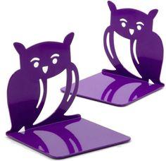 Purple Owl Die Cut Metal Bookends