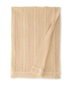 63% OFF Portolano Baby Cashmere Cable Receiving Blanket (Oatmeal)