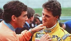 1992. Ayrton Senna and Michael Schumacher.
