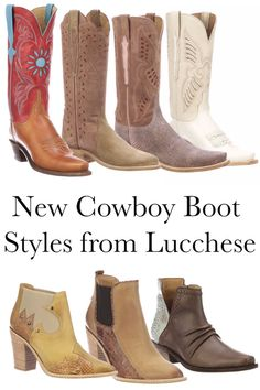 New cowboy boot styles from Lucchese