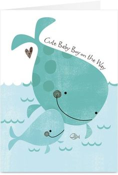 whale baby shower ideas | Invite | Whale Baby Shower Ideas