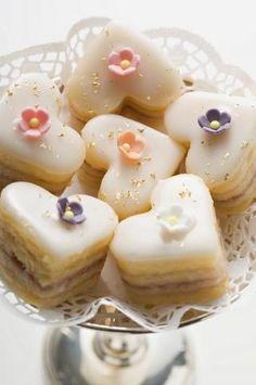 Petit Fours ~ Afternoon Tea Treats Tea Cakes, Mini Cakes, Cupcakes, Cupcake Cakes, Petit Cake, Little Cakes, Small Cake, Mini Desserts, Pretty Cakes