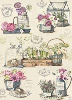 Scrapbooking paper Art thin Decoupage napkins Vintage print designer Collage Wrapping Craft Handmade home decor Floral flower paper Thin paper and cardboard for creativity, decoupage and handmade. Decoupage Vintage, Papel Vintage, Vintage Diy, Vintage Labels, Vintage Paper, Vintage Flowers, Floral Flowers, Paper Flowers, Lavender Flowers
