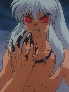 Full demon Inuyasha~ This moment in the show...Sh!t hit the fan