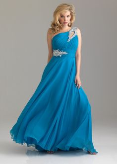 Night Moves by Allure Prom Dress Style 6526W available in Peacock, Green, Purple