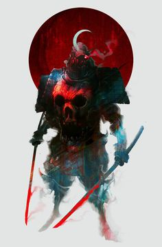"Bishamon Ichiyru, a Great Oni, also called ""Lunar Guillotine"""