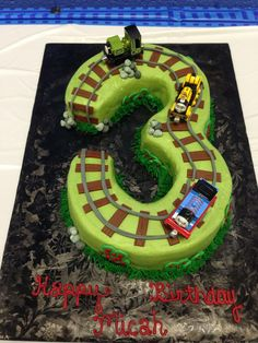 Three Thomas the Train Cake