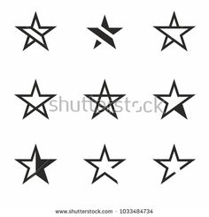 Star Icon set vector. Favorite Symbol or Button. Star Logo