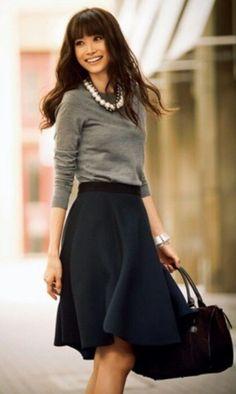 black skirt...