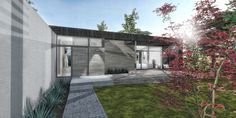 A modern cottage that is presently under construction on the Ottawa River just outside the national capital.