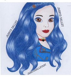 """""""A fairytale life can be oh so overrated"""" 💙❤️🍎 as Evie in Descendants 2 Kawaii Drawings, Disney Drawings, Cartoon Drawings, Cute Drawings, Disney Descendants Movie, Disney Channel Descendants, Girl Drawing Sketches, Portrait Sketches, Disney Decendants"""