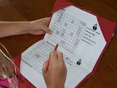 Paper Battleship folders- could use with vocabulary words