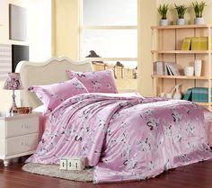 Lilium Casa Blanca Pink Silk Duvet Cover Set Silk Bedding Pillow Shams, Pillows, Silk Bedding, Pink Silk, Flat Sheets, Pink Fashion, Duvet Cover Sets, Comforters, Blanket