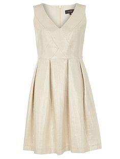 Luxe Shimmer Pleat Dress