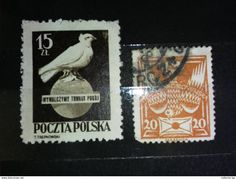 RARE 15+20ZL POLAND POLISH 1950'S STAMP TIMBRE - 1944-.... Republic