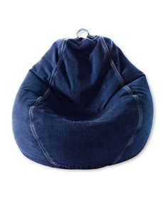 Denim Beanbag Chair - boys (or girls) would love having this in their bedroom; plus they can move it easily enough.  The denim will wear like buckskin too. beanbag chair, bedroom