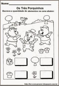 Little Pigs, Kids Education, Nursery Rhymes, Diy And Crafts, Comics, 1, Kids Learning Activities, Fairy Tale Activities, Infant Learning Activities