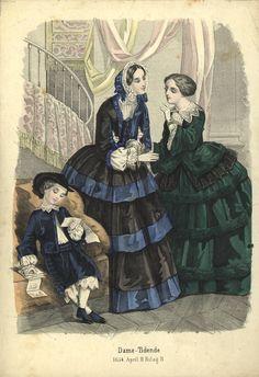Visiting dress, 1854