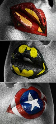 Hollie. Wish i had seen this before the birthday party!  superheroic-lipstick-art