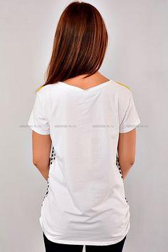 Футболка АР-43 Размеры: 44,46 Цена: 290 руб.  http://odezhda-m.ru/products/futbolka-ar-43  #одежда #женщинам #футболки #одеждамаркет