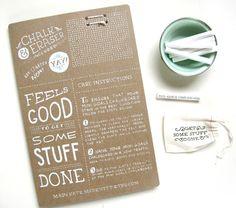 Mini Goals Chalkboard packaging