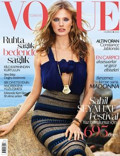 Gorgeous cover of Constance Jablonski for the June 2012 issue of Vogue Turkey. Photographed by KT Auleta and styled by Daniela Paudice, Constance wears one of my favorite Burberry Prorsum skirts from the spring 2012 collection.