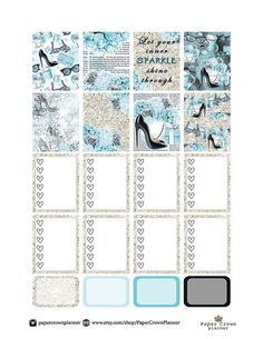 50% OFF SALE/ PRINTABLE Planner Stickers/Erin от PaperCrownPlanner