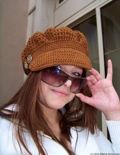 Crochet Pattern Crochet Newsboy Hat Pattern Crochet by natalya1905, $5.00