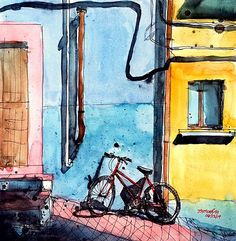 Urban Sketchers: The Bicycles of Bhavnagar