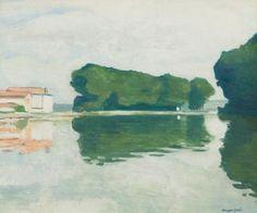 Albert Marquet, Samois, l'ile (Les Peupliers)