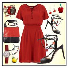 """Fruity black heels :-)"" by amisha73 ❤ liked on Polyvore featuring Deco Breeze, Venessa Arizaga, BillyTheTree and Charming Life"