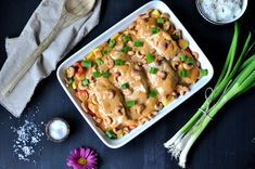 ovnsbakt-torsk-med-creme-fraiche-mango-chutney-og-cashewnotter-11 Creme Fraiche, Chutney, Mashed Potatoes, Mango, Cooking Recipes, Chicken, Dinner, Ethnic Recipes, Whipped Potatoes