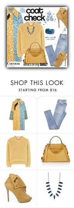 """""""Trending: How to Wear a Cocoon Coat"""" by terrelynthomas ❤ liked on Polyvore featuring Acne Studios, Fendi, Alexander McQueen, New Directions, Dsquared2 and denimandcamel"""
