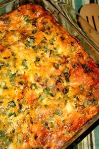 Mexican Breakfast Casserole   From TheGraciousWife.com    A make-ahead, overnight breakfast casserole, packed with spicy flavor. #MakeAhead #breakfast #casserole
