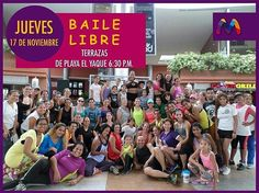 Ven y baila al ritmo del #Staff de la mejor instructora de #BailaLibre de la Isla de Margarita @Indhirabaile mañana a partir de las 6:30pm en las terrazas de #PlayaElYaque y libérate del stress. Te esperamos!!! #FelizNoche #MasQueUnCentroComercial - #regrann